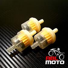 3 x Universal Kraftstofffilter 7mm 8mm Benzinfilter Filter Motorrad Roller Auto