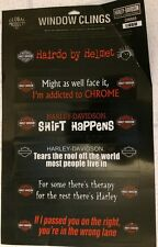 Harley Davidson Window Clings NEW Decals