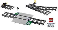 LEGO® Eisenbahn 60198 Schienen Gerade mit Bahnübergang Prellbock Weiche links