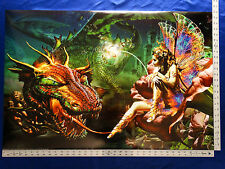 Dragon & Fairy Fantasy Mythical Magic Spell Dragon's Dream Picture Poster 24X36