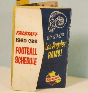 1960 Los Angeles Rams Football Schedule Falstaff Beer Go Go Go Rams! #DE