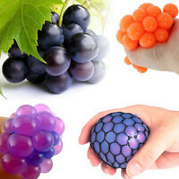 Fancy Anti Stress Face Reliever Grape Ball Autism Mood Squeeze Relief ADHD Toy.#