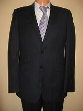 NEW NEXT BLACK GOLD PINSTRIPE SINGLE BREAST WOOL BLEND SUIT 36R CHEST 32R WAIST