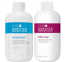 CND Service Essentials ScrubFresh Cleanser and Offly Fast Remover 222mL 7.5 oz