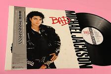 MICHAEL JACKSON LP BAD JAPAN ORIG NM !!!!! OBI INSERT TOP AUDIOFILI COLLECTORS