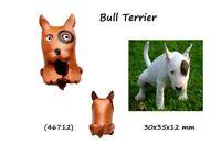 Llavero Hombre Cuero 3D Perro Bull Terrier