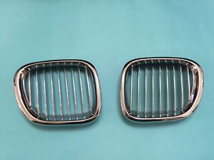 Front Kidney Hood Grilles Chrome-Silver For '1996-'2002 BMW Z3 COUPE CONVERTIBLE