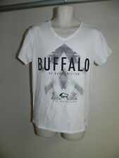 Buffalo David Bitton WHITE Mens V-neck Shirt Medium Tee NWT
