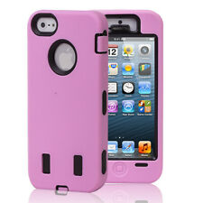 Pink Hybird Silicone Hard High Impact Resistance Case Cover For iPhone 5 5G 5th