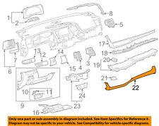 TOYOTA OEM 14-15 Highlander Instrument Panel Dash-Ornament 554710E020C0