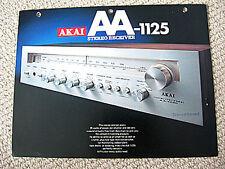 Akai AA-1125 receiver brochure catalogue, #1