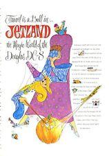 1965 Douglas Jetland Magic World of Douglas DC-8 Dream of Genie Style PRINT AD