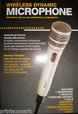WIRELESS MICROPHONE FOR KARAOKE, PA SYSTEM COMPLETE KIT