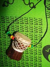 African D'jembe Drum Necklace new handmade Africa drummer music M/L jndl69