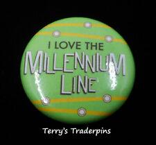 Transportation Pin Millennium Line Skytrain Transit Button Pinback