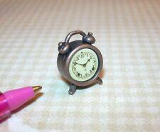 Miniature Antique BRONZE Alarm Clock, High Detail!: DOLLHOUSE 1/12 Scale