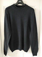 M&S Blue Harbour Pure Cotton Bagel Neck Knitted Jumper, Navy, Medium, BNWT