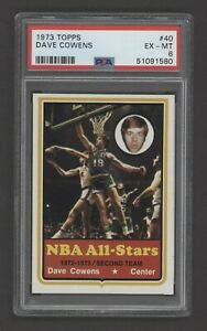 1973 Topps Basketball Card - #40 Dave Cowens All-Star, PSA 6 EXMT