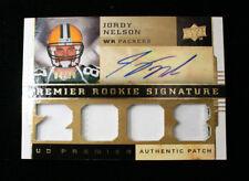 Jordy Nelson 2008 UD Premier Rookie Signature Patch #04/30 Auto autograph Card