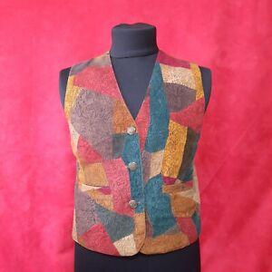 COSMOPOLITAN women's Leather Viscose Vest waistcoat Size L
