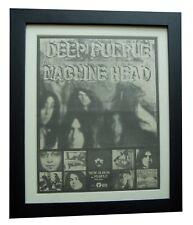 DEEP PURPLE+Machine Head+POSTER+AD+RARE ORIGINAL 1972+FRAMED+EXPRESS GLOBAL SHIP