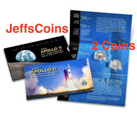 2019 S Apollo 11 50th Anniversary Reverse Kennedy Proof 2 Half Dollar Set 19CF