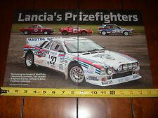 LANCIA RACE CAR 1969 FULVIA 1975 STRATOS HF 1983 037 EVO 2 1988 DELTA INTEGRALE