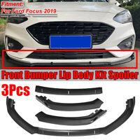 Para Ford Focus 2019 3PCS parachoques delantero cuerpo del labio Kit Spoiler Spl