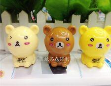 New!1 Piece Korean Creative Stationery Cute Bear Pencil Sharpener AB