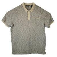 Sean John Men's Size 3XL Brown Horizontal Striped Short Sleeve Polo