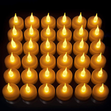 24 Pack Flameless LED Tea Light Candles, Realistic & Bright Naturally Flickering
