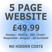 5 Page Web Design - Includes Domain & Hosting - Responsive Website Design + SEO