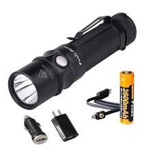 Fenix RC11 1000 Lumens Rechargeable LED Flashlight w/ 18650 Battery & USB Plugs