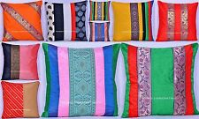 200 PCs Wholesale Lot Handmade Cushion Cover Raw Silk Pillow Case Indian Decor