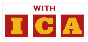 Shell 'With ICA' red & yellow vinyl sticker for Gilbarco / Wayne petrol bowser