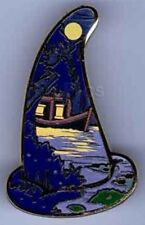 LE 200 Blue Swamp Boat Pirates Of Caribbean Sorcerer Hat WDI Disney Mystery Pin