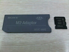 Sony M2 to MemoryStick memory stick adapter MSAC-MMS with 64MB M2 card