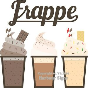 Frappe DECAL (Choose Your Size) Coffee Concession Food Truck Vinyl Sticker