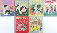 Vintage Little Golden Book Lot CLASSICS 42 pages Shy Little Kitten Poky Puppy+++