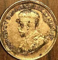 1918 CANADA SILVER 5 CENTS COIN