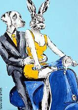 GILLIE AND MARC. Direct from artists. Authentic Art Print 'Love' 'Vespa'