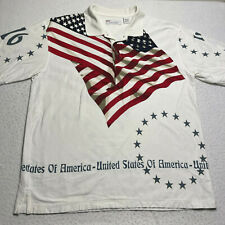 American Summer Clothing Co. Men's Size Large Polo July 4th American Flag Shirt