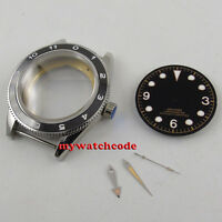 41mm no logo luminous black dial + hands + Watch Case fit ETA 2824 2836 MOVEMENT