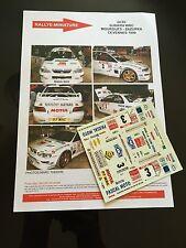 DECALS 1/24 SUBARU IMPREZA WRC MOURGUES RALLYE CEVENNES 1999 RALLY HASEGAWA