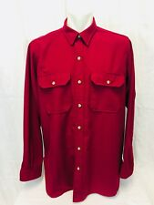 Cabela's Long Sleeved Button Front Hunting Shirt Mens 2XL Red