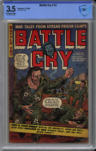 BATTLE CRY #12 CBCS 3.5 - HIGHEST PRO GRADE: NONE on CGC CENSUS - 1954