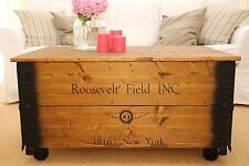 Table basse Boîte en bois Coffre Vintage Maison de campagne shabby chic massif