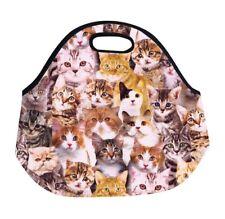 Lunch Box Bag Tote Cat Kitten Kids Girl Boy School Travel