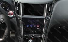 2X Carbon Fiber Interior Trims Media Frame for 2013-2018 Infiniti Q50 2014 2015