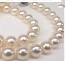 """Genuine AAA 10mm White South Sea AKOYA SHELL PEARL NECKLACE 18"""""""